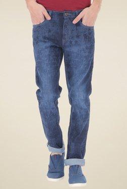 Flying Machine Blue Super Slim Fit Cotton Jeans