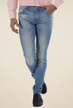 Flying Machine Light Blue Low Rise Skinny Fit Jeans
