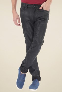 Flying Machine Black Low Rise Skinny Fit Jeans