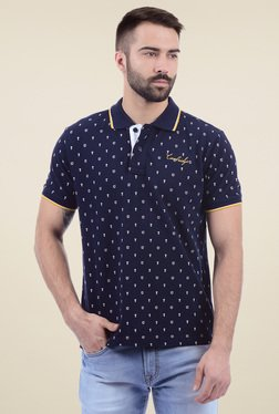 Pepe Jeans Navy Printed Short Sleeves Polo T-Shirt