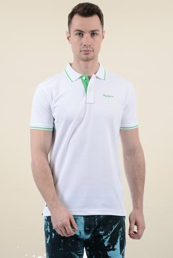 Pepe Jeans White Short Sleeves Cotton Polo T-Shirt