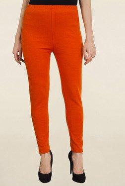 Aurelia Orange Solid Tights