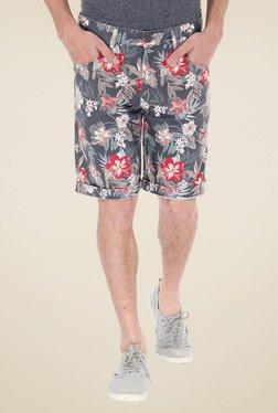 Flying Machine Grey Printed Shorts