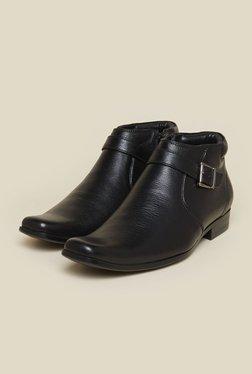 Mochi Black Leather Formal Boots