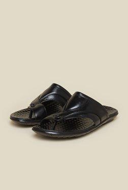 Mochi Black Leather Sandals