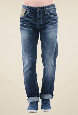 Pepe Jeans Dark Blue Regular Fit Cotton Jeans