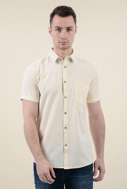 Pepe Jeans Beige Short Sleeves Cotton Shirt