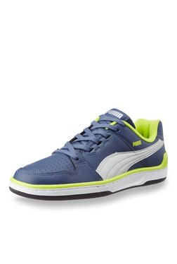 Puma Unlimited Lo DP Navy & Lime Green Training Shoes