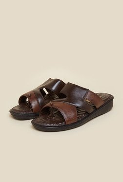 Mochi Brown Leather Casual Sandals