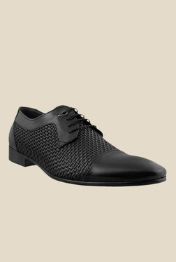 J. Fontini By Mochi Black Derby Shoes