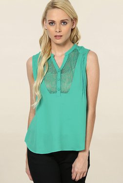 Vero Moda Green Lace Top