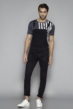 Nuon by Westside Black Slim Fit Dungarees