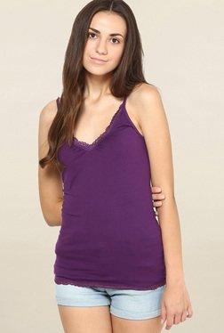 Vero Moda Purple Solid Cami Top