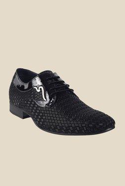 J. Fontini By Mochi Black Derby Shoes