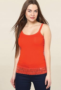Only Orange Lace Cami Top