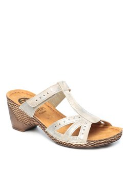 Pavers England Off-White Wedge Heeled Sandals