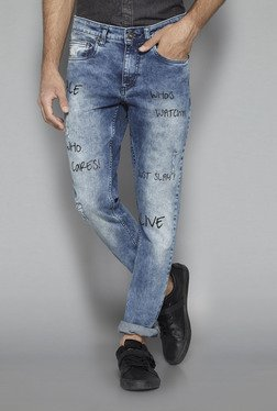 Nuon by Westside Blue Rocker Skinny Fit Jeans
