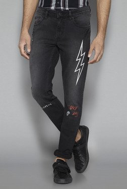 Nuon by Westside Black Rocker Skinny Fit Jeans