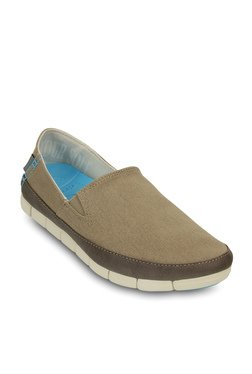 Crocs Khaki And Stucco Casual Shoes