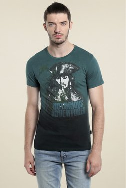 Jack & Jones Teal Green Short Sleeves Cotton T-Shirt
