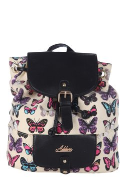 Addons Off-White Butterfly Print Backpack