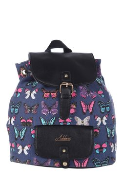 Addons Navy Butterfly Print Backpack