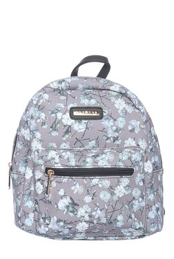 Addons Grey Floral Print Backpack