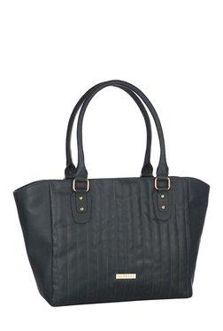 Addons Dark Green Stitched Trapeze Shoulder Bag