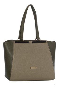 Addons Olive & Grey Color Block Shoulder Bag