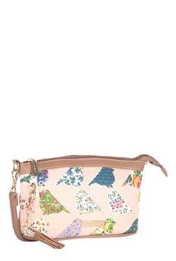 Addons Peach Bird Print Sling Bag
