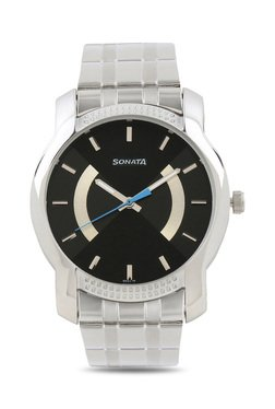 Sonata NJ7093SM01 Elite Analog Watch for Men image