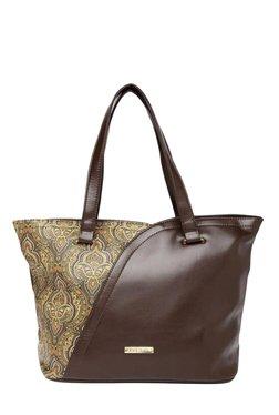 Addons Brown Paisley Print Shoulder Bag