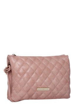 Addons Pink Diamond Quilted Sling Bag