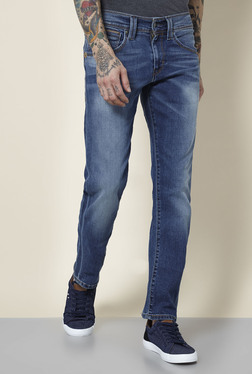 Levi's 511 Blue Lightly Washed Mid Rise Slim Fit Jeans