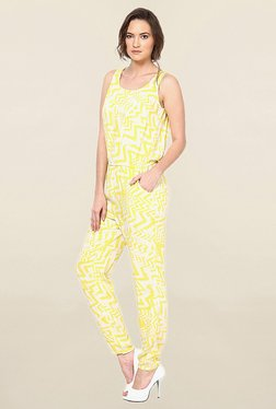 Vero Moda Yellow Printed Jumpsuit