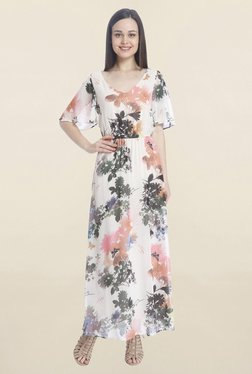 Only White Floral Print Maxi Dress