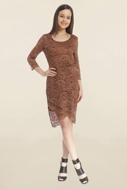 Only Brown Lace Dress