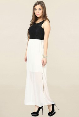 Only White & Black Lace Maxi Dress