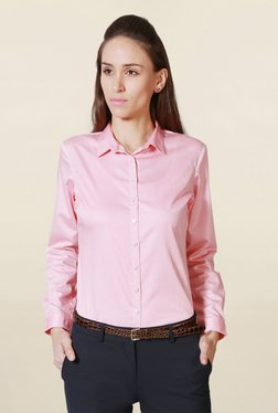 Solly By Allen Solly Pink Regular Fit Floral Print Shirt