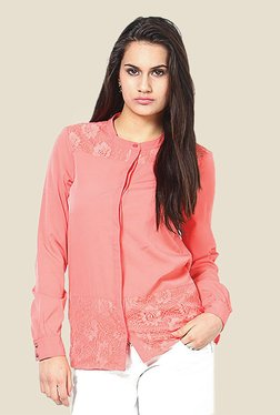Only Pink Lace Shirt