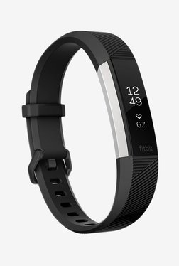 Fitbit Alta HR Fitness Tracker (Black, Stainless Steel)Large