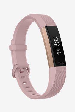 Fitbit Alta HR Fitness Tracker (Pink, Rose Gold) Large