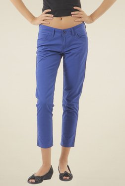 Pepe Jeans Blue Slim Fit Cotton Trousers