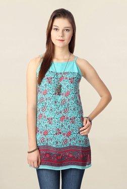People Turquoise Printed Tunic