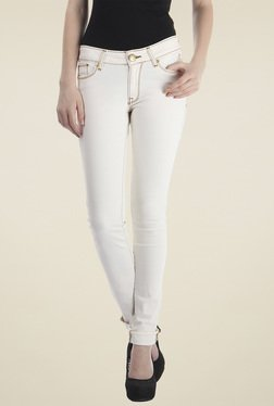 Pepe Jeans White Slim Fit Cotton Jeans