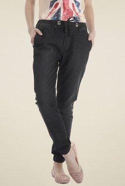 Pepe Jeans Black Regular Fit Cotton Jogger Jeans