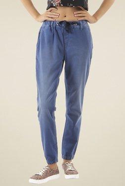 Pepe Jeans Blue Lightly Washed Regular Fit Jogger Jeans