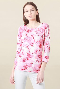 Solly By Allen Solly Pink Floral Print Top