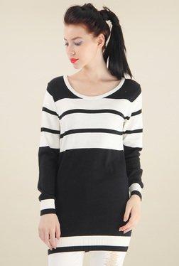 Pepe Jeans Black & White Striped Long T-Shirt