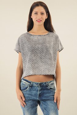 Pepe Jeans Grey Regular Fit Cotton Top